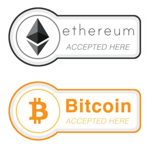 Bitcion & Ethereum accepted here